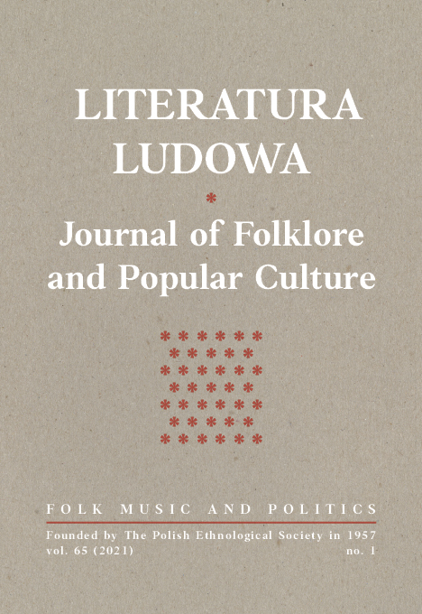 View No. 1 (2021): Folk music and politics
