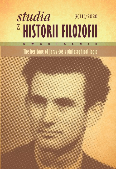 View Vol. 11 No. 3 (2020): The Heritage of Jerzy Łoś's Philosophical Logic