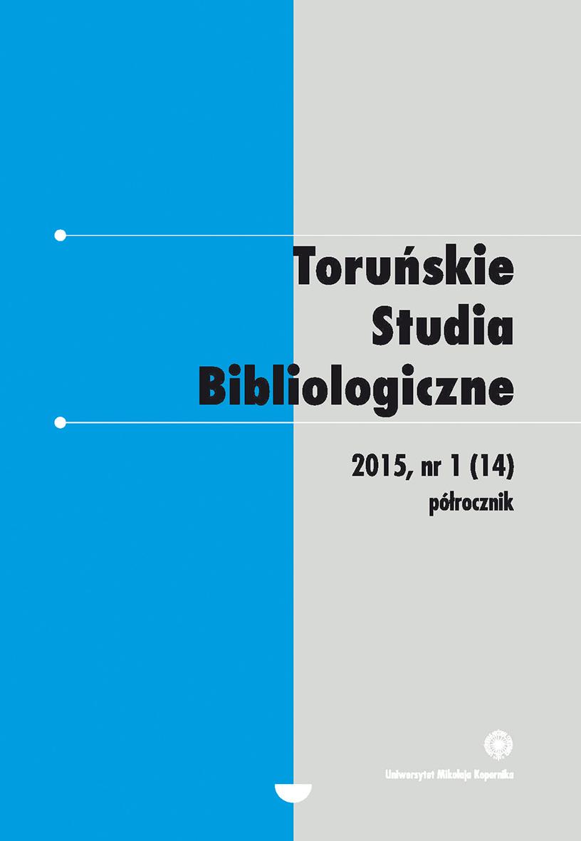 Pokaż  Tom 8 Nr 1 (14) (2015)