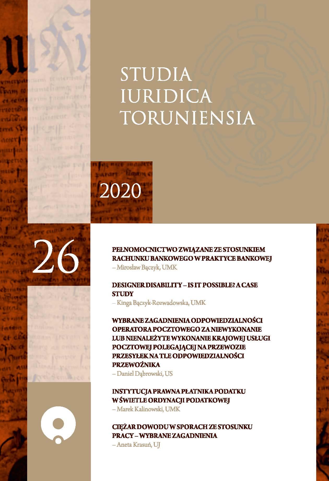 Pokaż  Tom 26 (2020): Tom XXVI