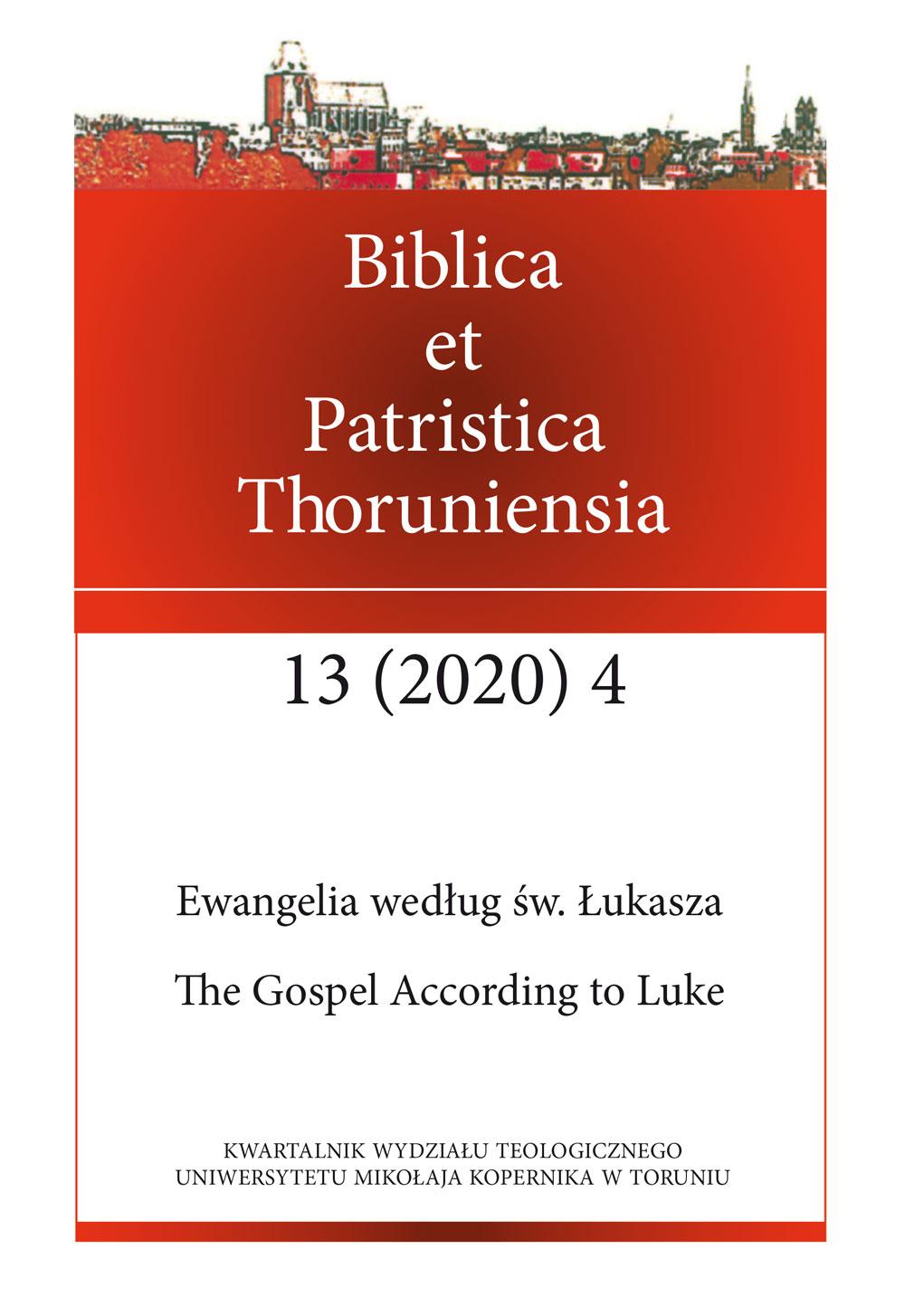 Pokaż  Tom 13 Nr 4 (2020): Ewangelia według św. Łukasza