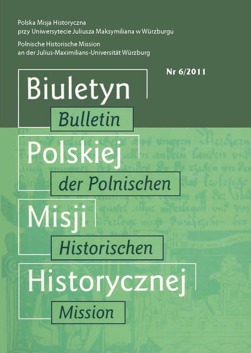 Pokaż  Tom 6 (2011): Uniwersytet i archiwum