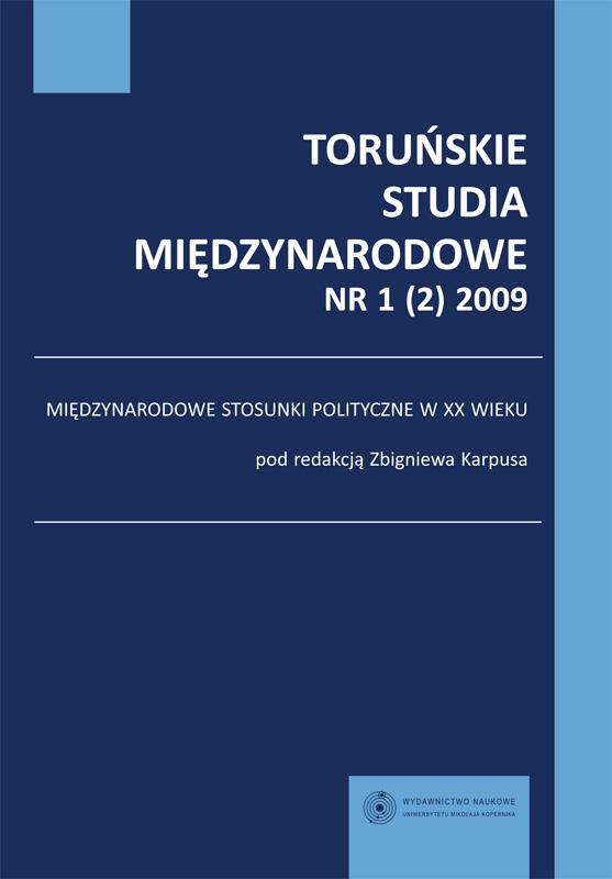 View Vol. 1 No. 2 (2009): Międzynarodowe stosunki polityczne w XX wieku