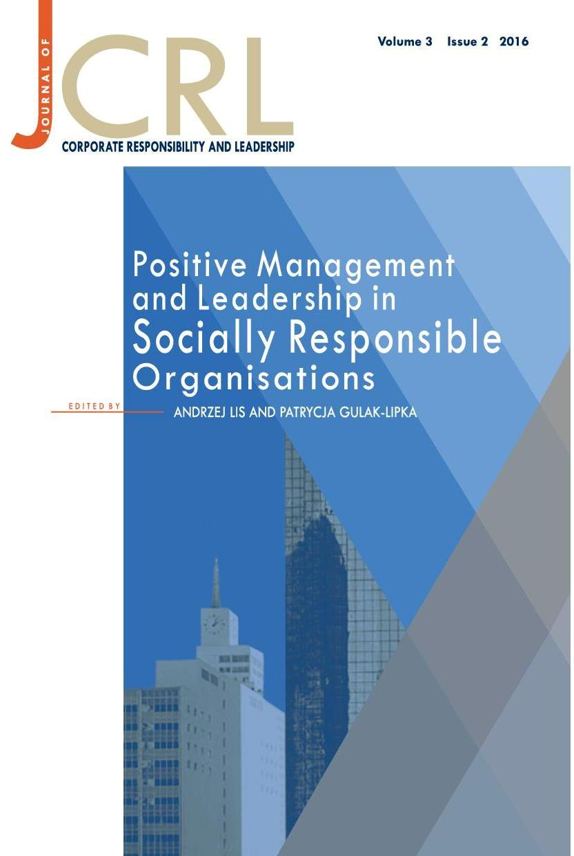 View Vol. 3 No. 2 (2016): Positive Management and Leadership in Socially Responsible Organisations