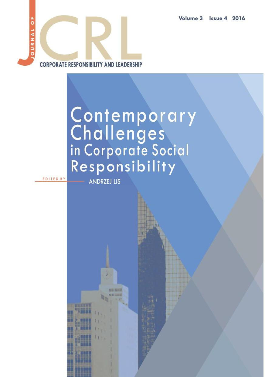 View Vol. 3 No. 4 (2016): Contemporary Challenges in Corporate Social Responsibility
