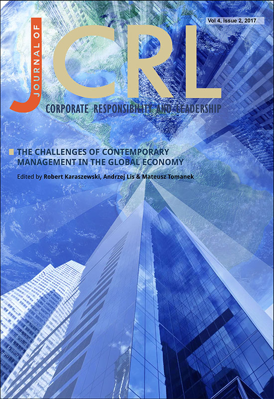 View Vol. 4 No. 2 (2017): The Challenges of Contemporary Management in the Global Economy
