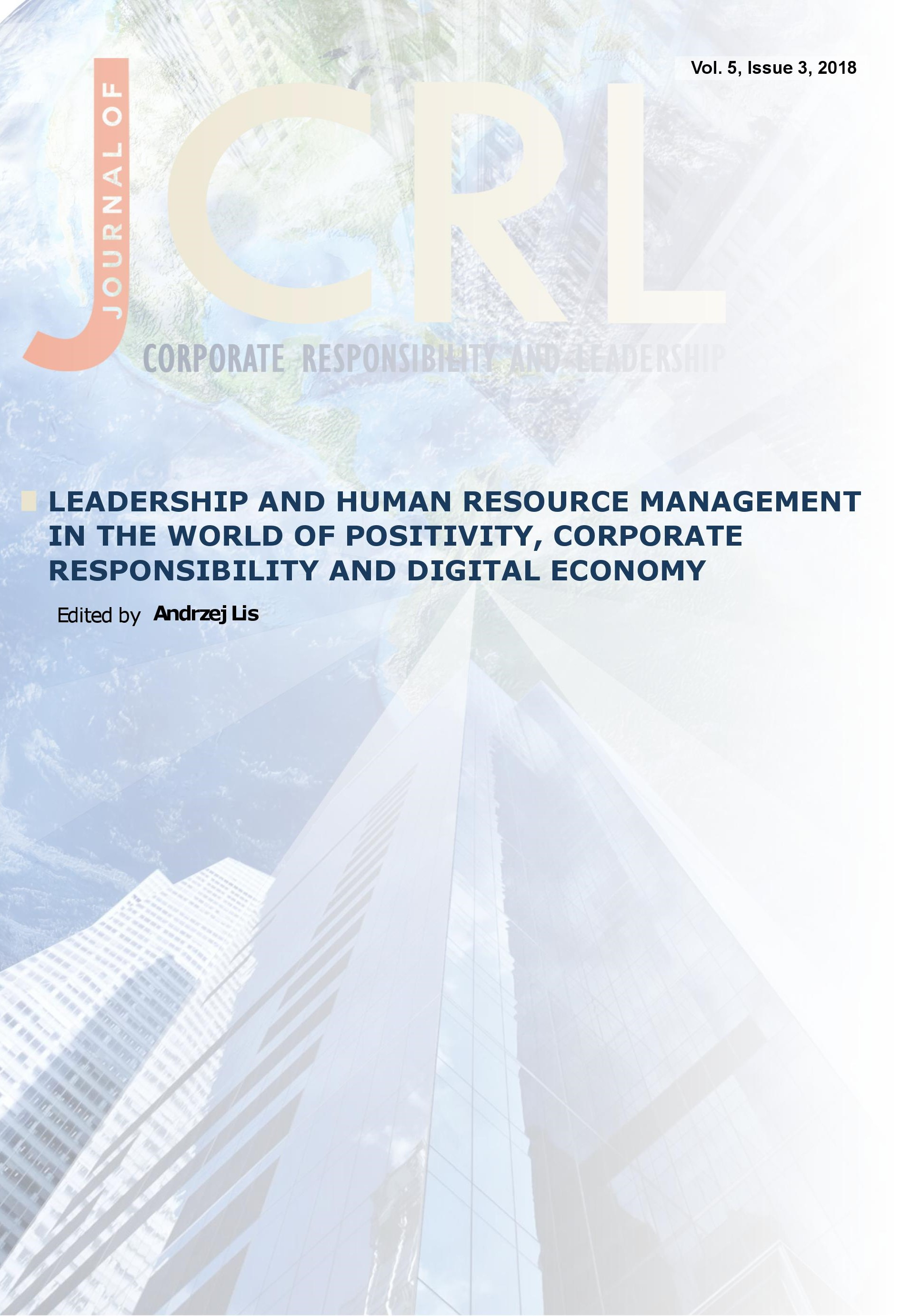 View Vol. 5 No. 3 (2018): Leadership and Human Resource Management in the World of Positivity, Corporate Responsibility and Digital Economy