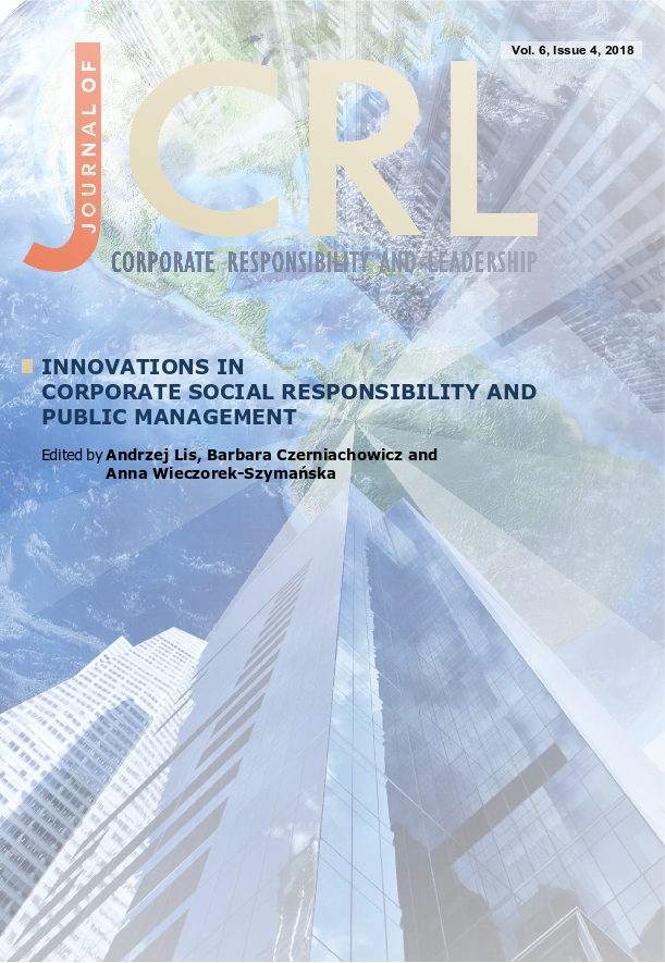 View Vol. 5 No. 4 (2018): Innovations in Corporate Social Responsibility and Public Management