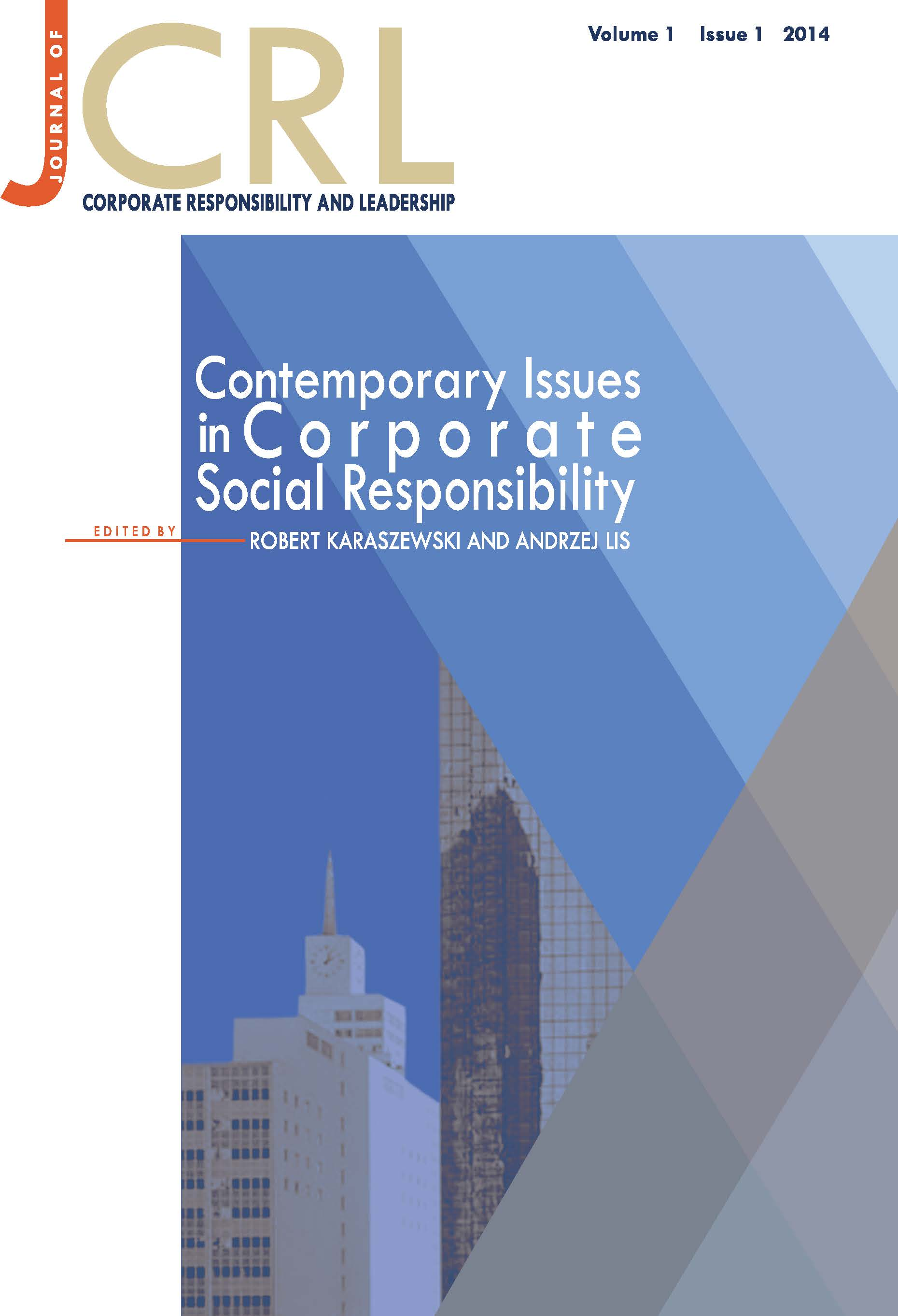 View Vol. 1 No. 1 (2014): Contemporary Issues in Corporate Social Responsibility