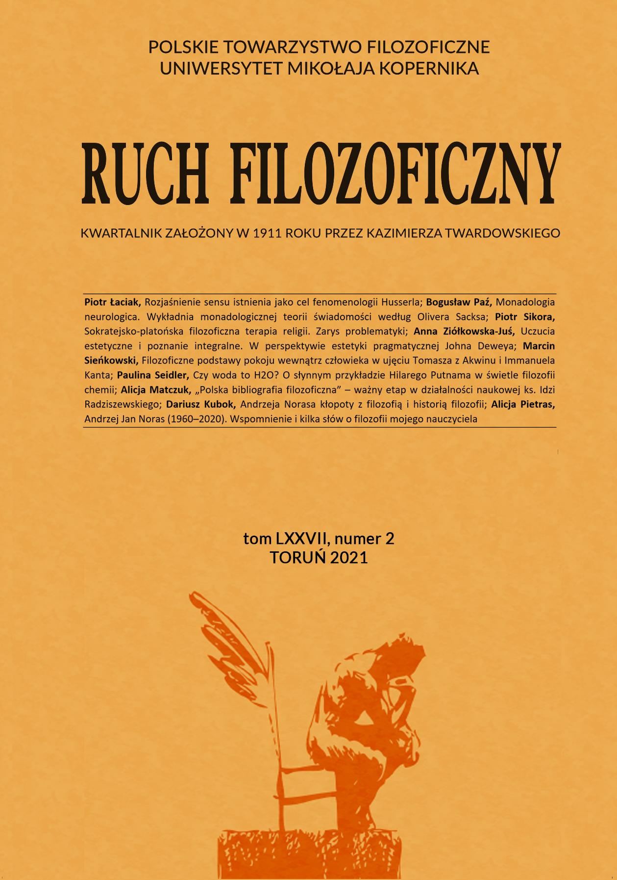 Pokaż  Tom 77 Nr 2 (2021): Ruch Filozoficzny